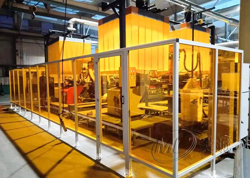 机器人防弧光板围栏
